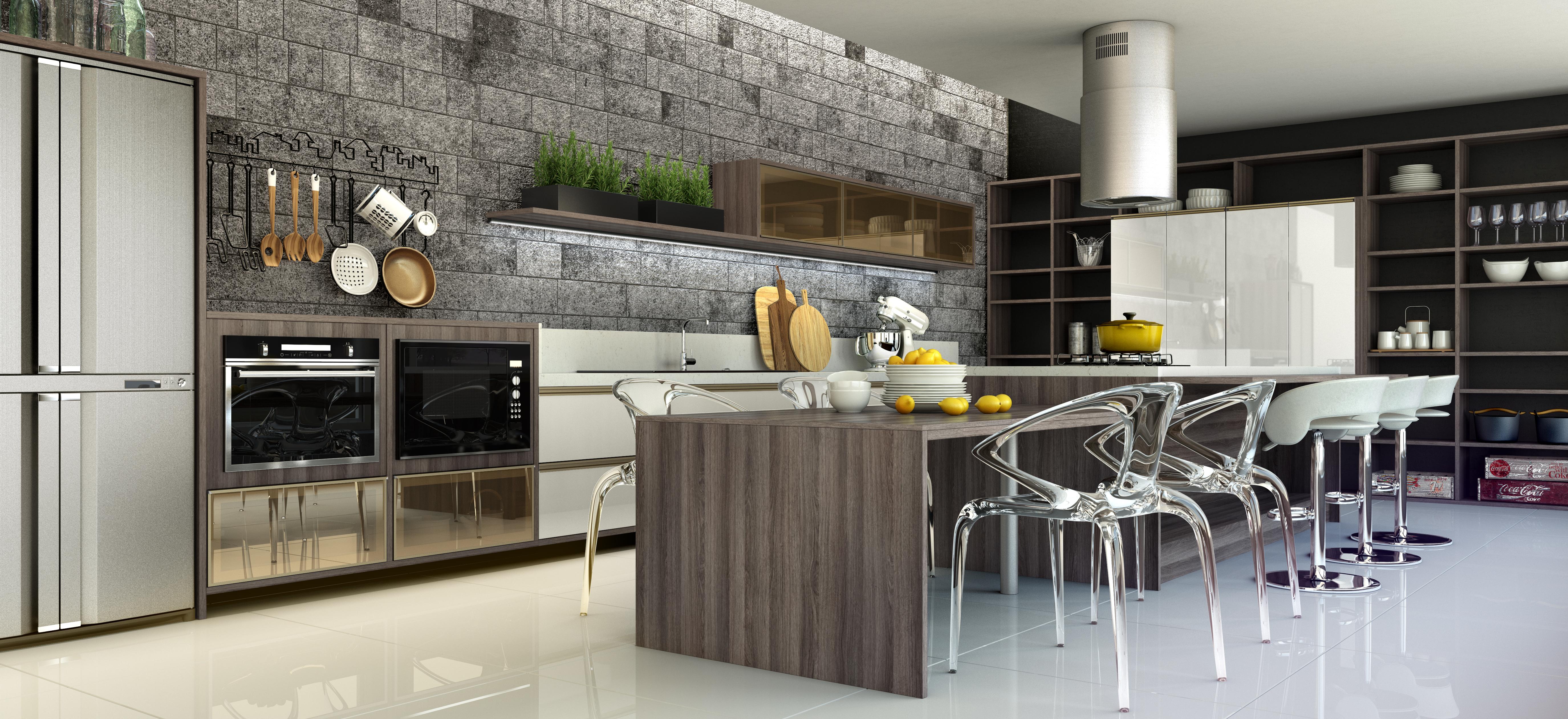 Cozinha Beregac com Iluminatta