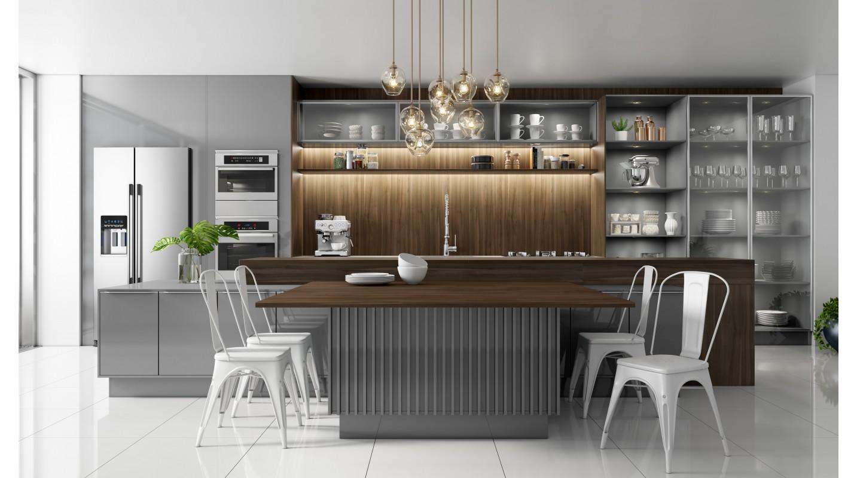 Cozinha Cinza Brilho-Ipe