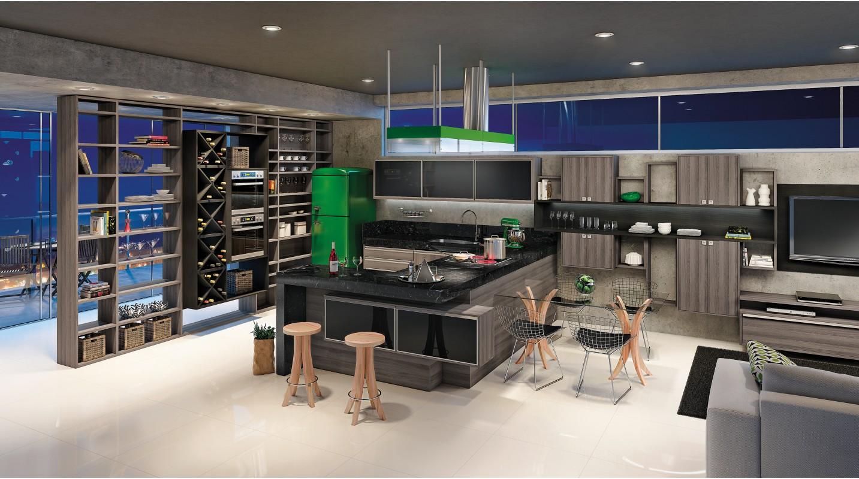 Cozinha Bergerac e Preto