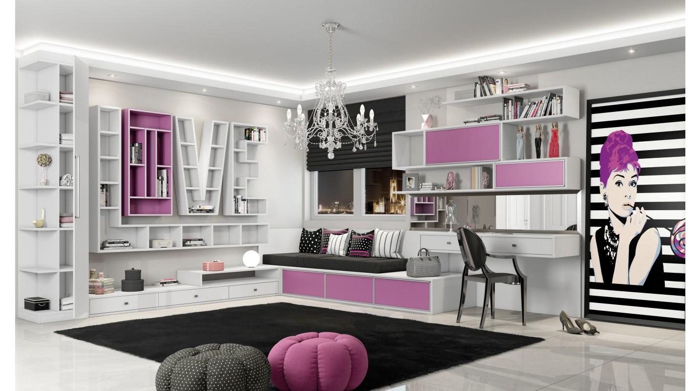 Dormitório Rosa Retrô Fosco