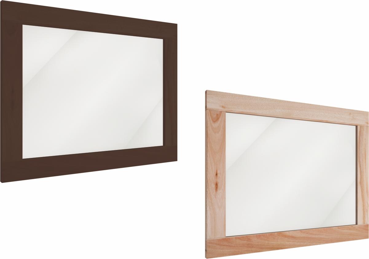 Espelhos com moldura em madeira