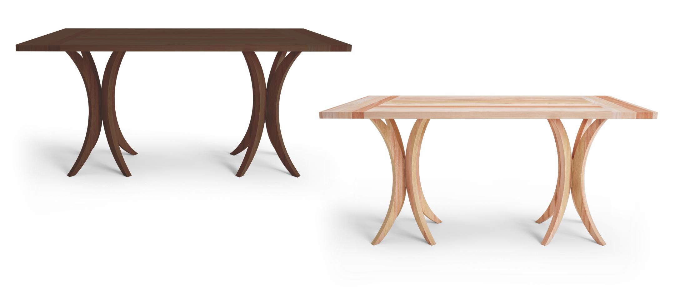 Mesa de jantar retangular 6 lugares com tampo em madeira